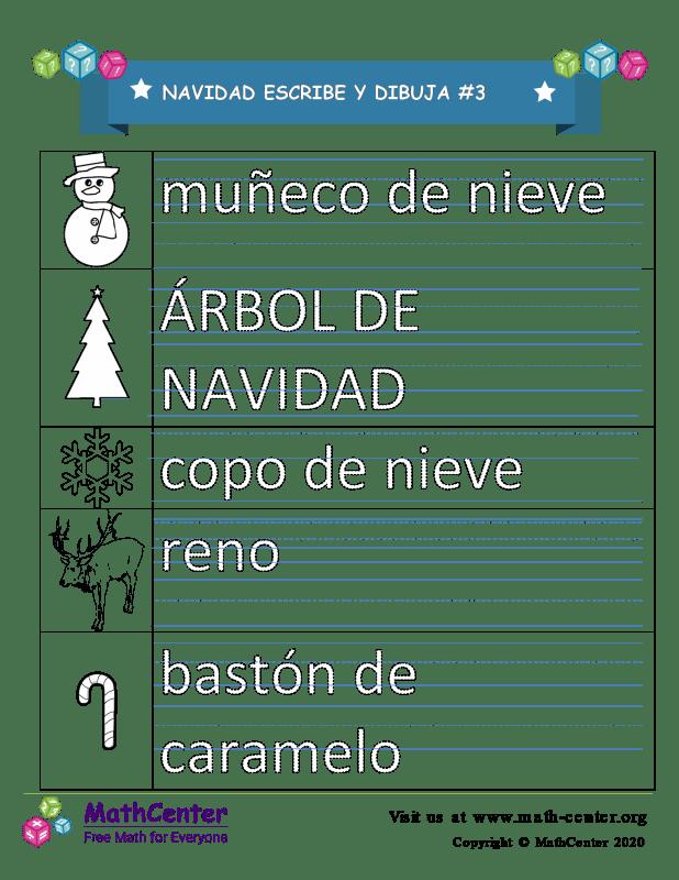 Navidad Escribe Y Dibuja 3