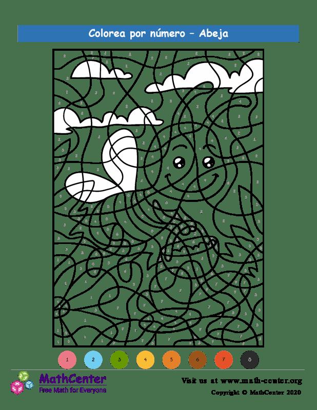 Colorear por números - Abeja