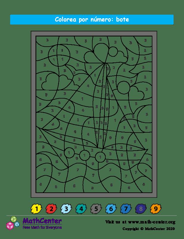 Colorear por números - Barco
