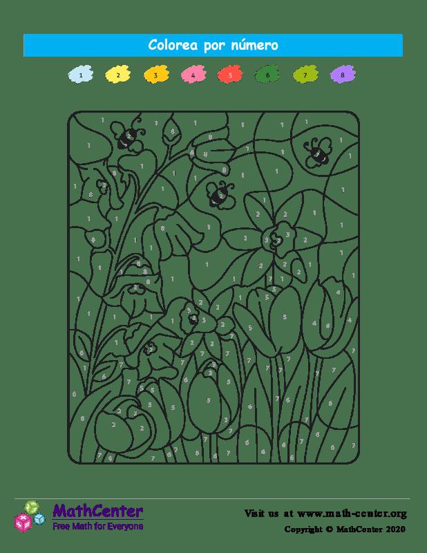 Colorear por números - Naturaleza