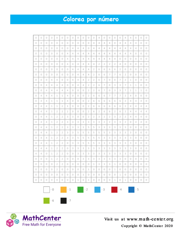 Cuadrícula para Colorear por números - Gallo