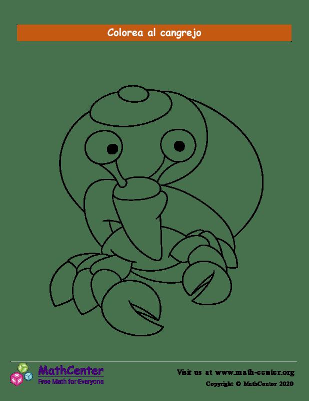 Colorear el cangrejo