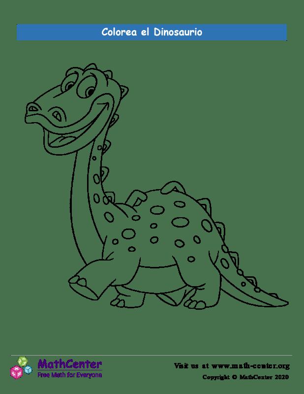 Colorear el dinosaurio N°1