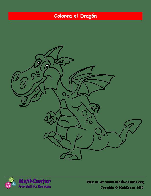 Colorear el dragón N°3