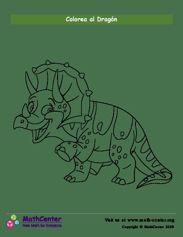 Colorear el dragón N°4
