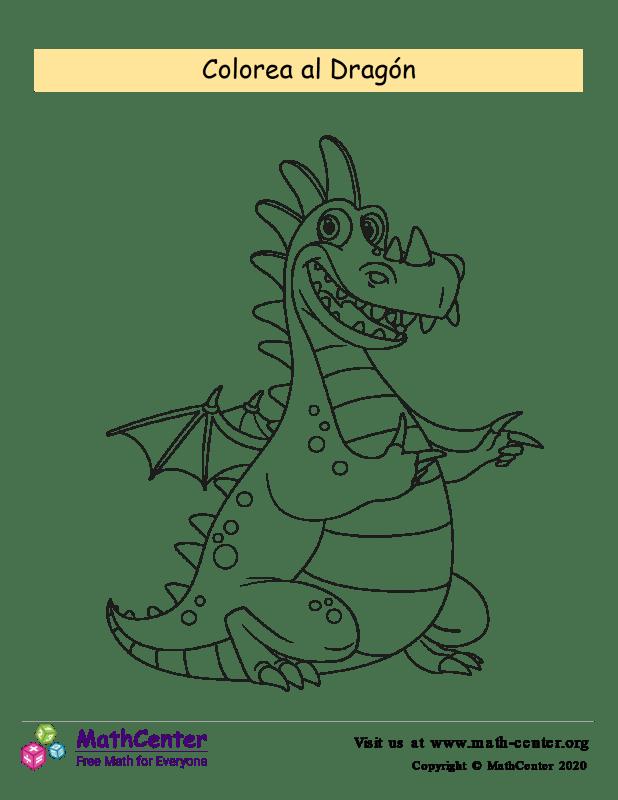 Colorear el dragón N°6