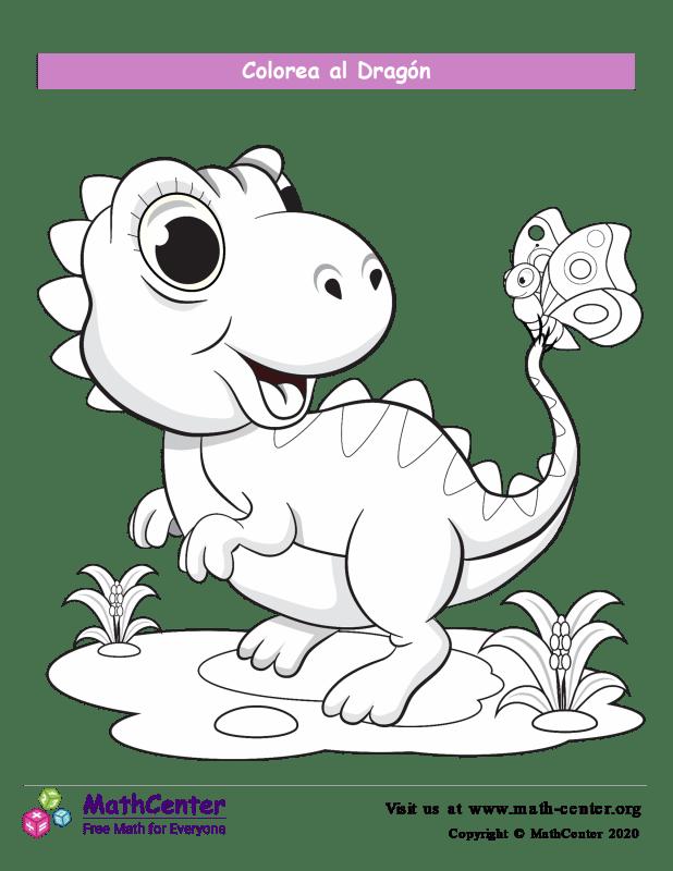 Colorear el dragón N°7