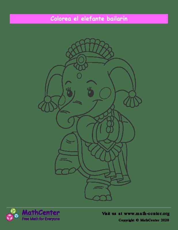 Colorear el elefante