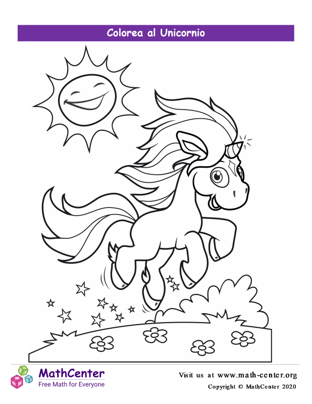 Colorear el unicornio N° 2