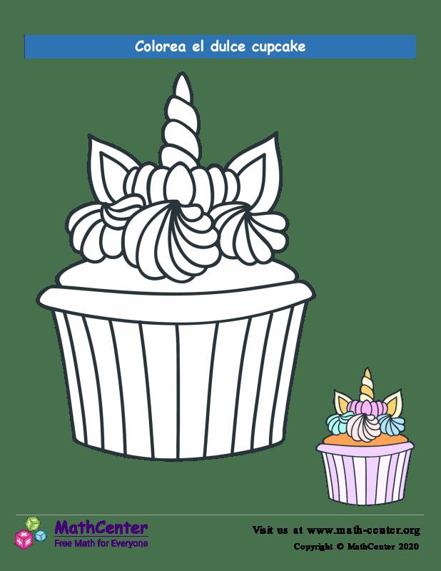 Colorear el cupcake N° 4