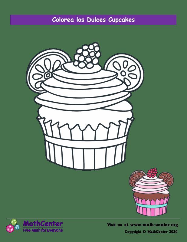Colorear el cupcake N° 5