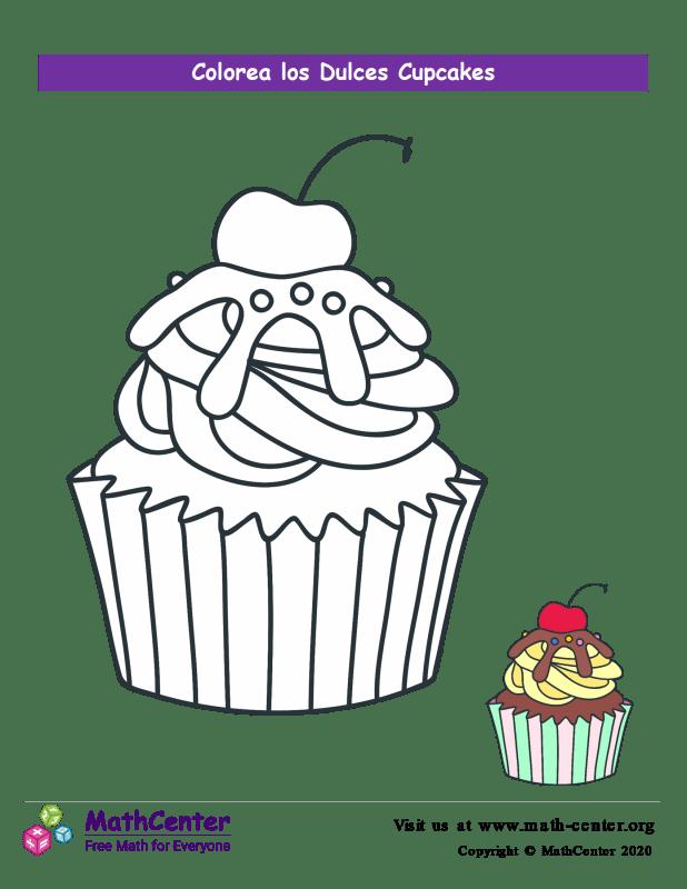 Colorear el cupcake N° 7