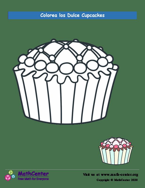 Colorear el cupcake N° 8