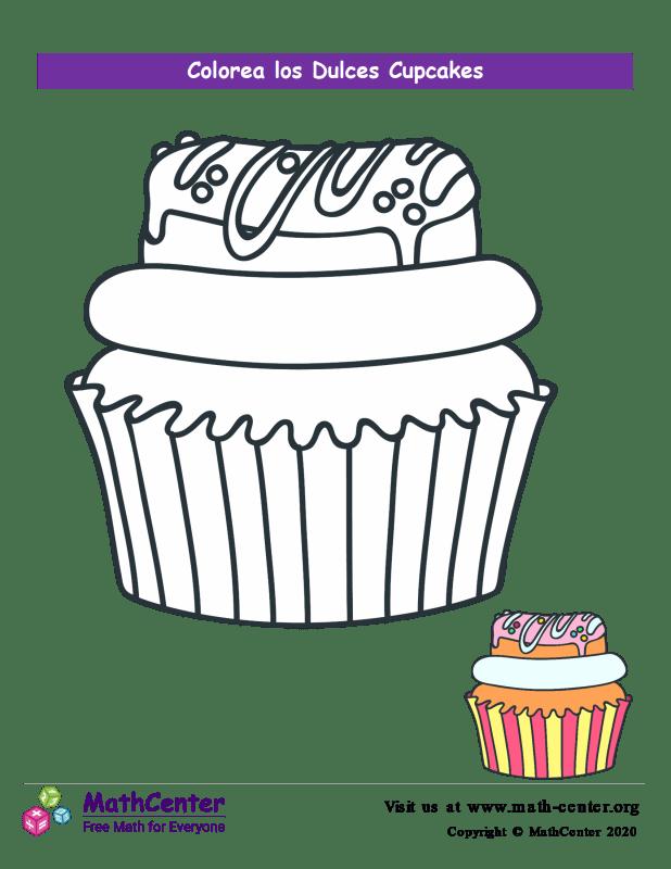 Colorear el cupcake N° 9