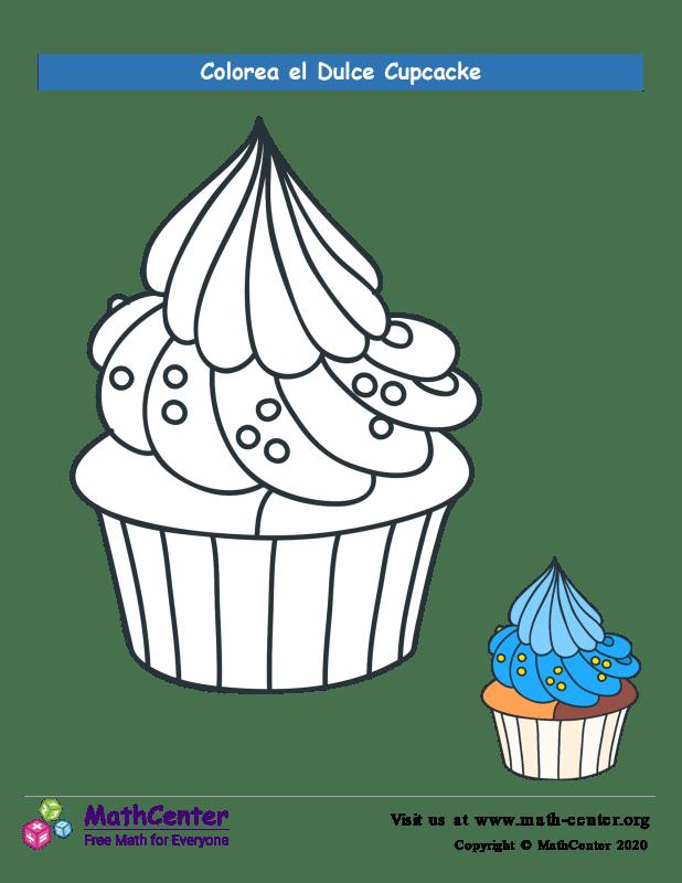 Colorear el cupcake N° 10