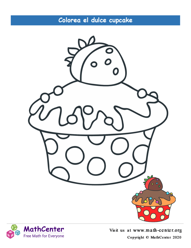 Colorear el cupcake N° 12