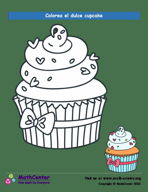 Colorear el cupcake N° 13
