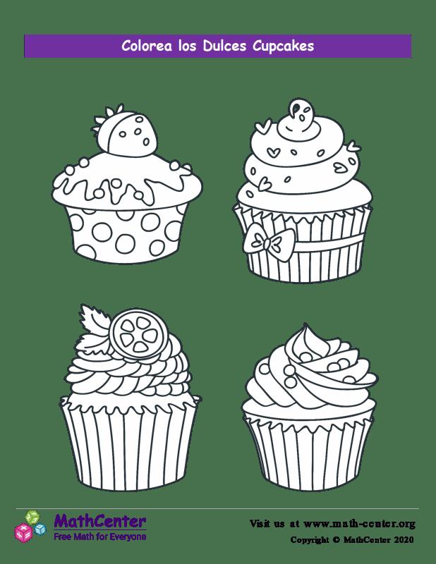 Colorear el cupcake N° 2