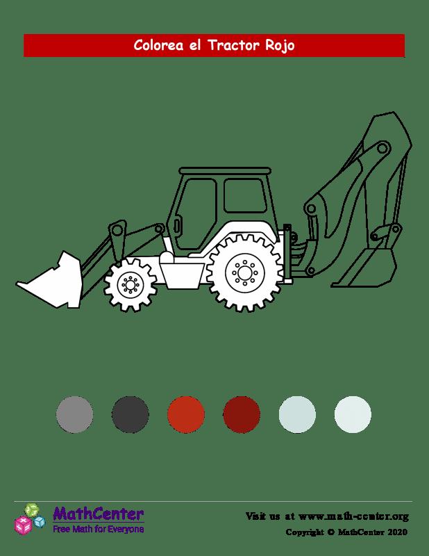 Colorear el tractor