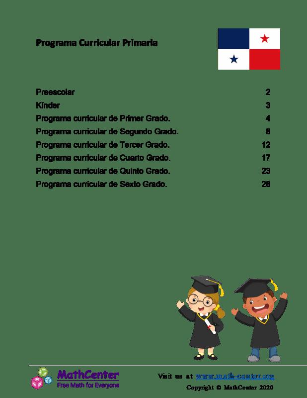 Programa Curricular Primaria Panamá
