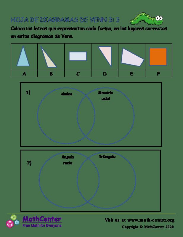 Hoja De Diagramas De Venn 3: 3