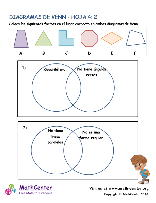 Hoja De Diagramas De Venn 4: 2