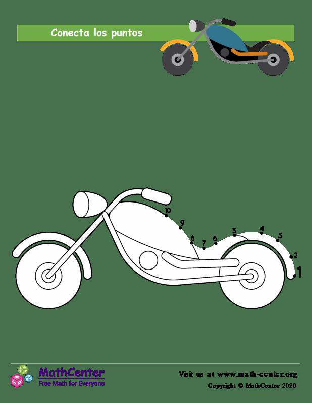 Conecta los puntos Hasta 10 - Moto