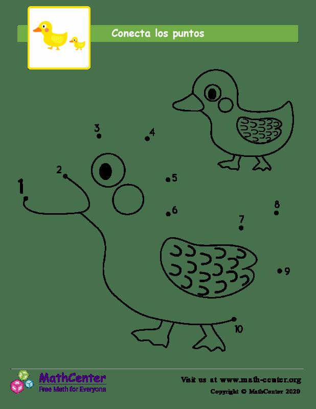 Conecta los puntos Hasta 10 Pato