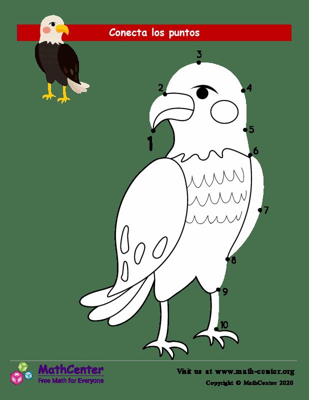 Conecta los puntos Hasta 10 - Águila