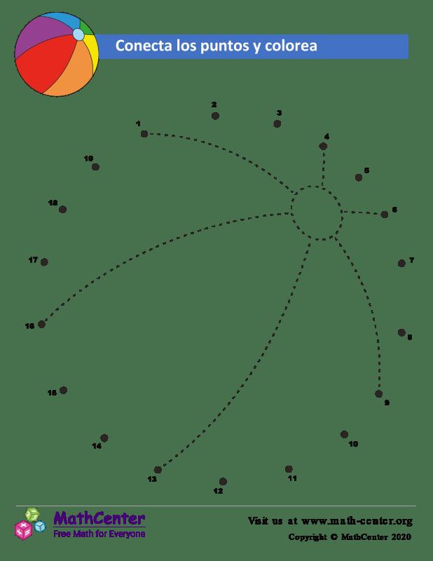Conecta los puntos Hasta 20 - Bola