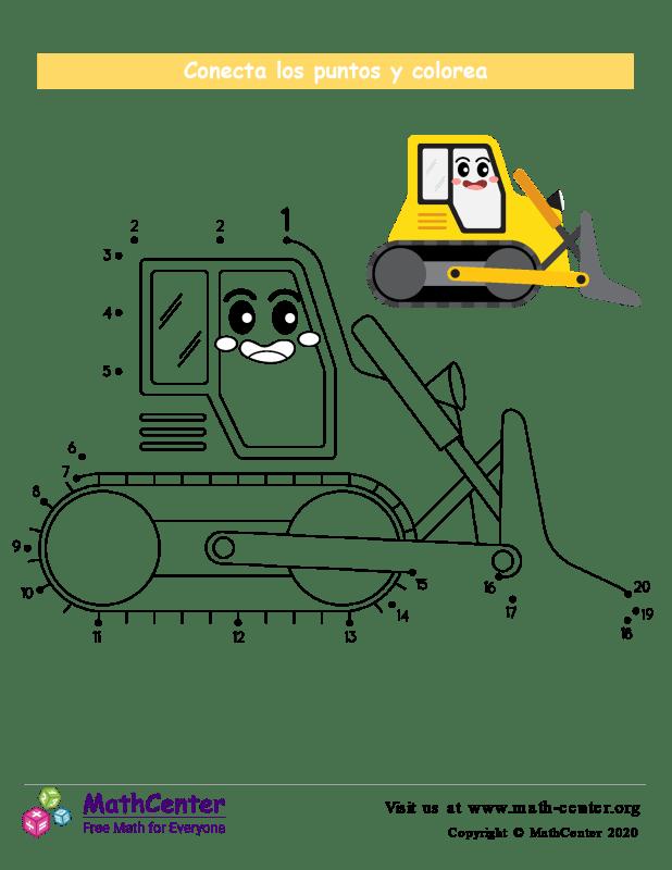 Conecta los puntos Hasta 20 - Excavadora