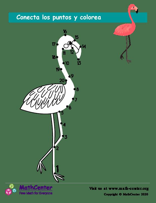 Conecta los puntos Hasta 20 - Flamenco