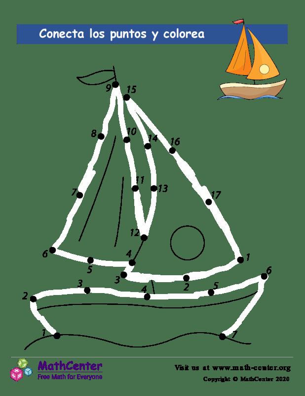 Conecta los puntos Hasta 20 - Embarcacion