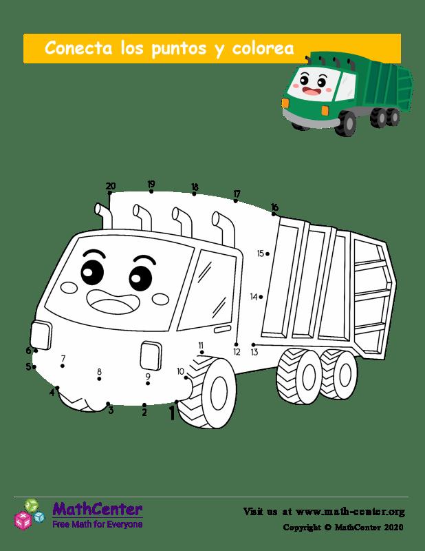 Conecta los puntos Hasta 20 - Camión