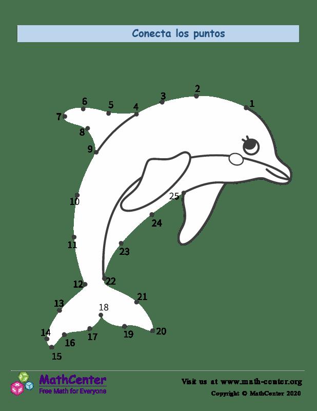 Conecta los puntos Hasta 25 - Delfín