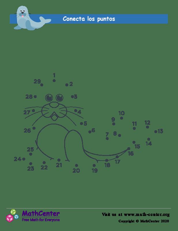 Conecta los puntos Hasta 29 - Sello