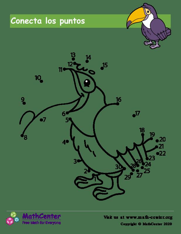 Conecta los puntos Hasta 30 - Pájaro
