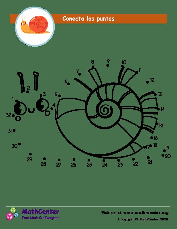 Conecta los puntos Hasta 32 - Caracol