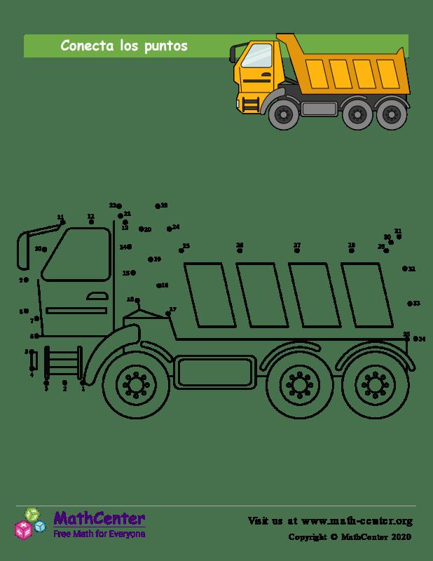 Conecta los puntos Hasta 35 - Camión