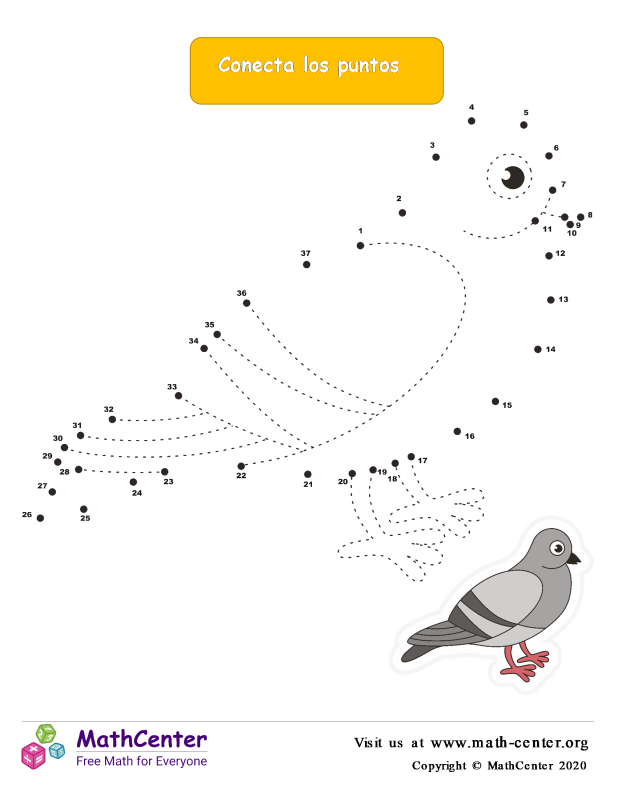 Conecta los puntos Hasta 37 - Paloma