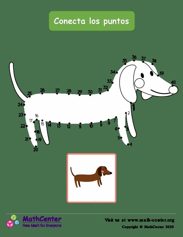 Conecta los puntos Hasta 40 - Perro