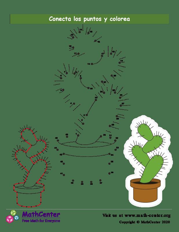 Conecta los puntos Hasta 46 - Cactus