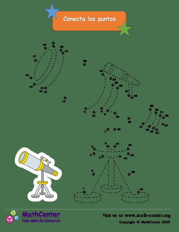 Conecta los puntos Hasta 46 - Telescopio
