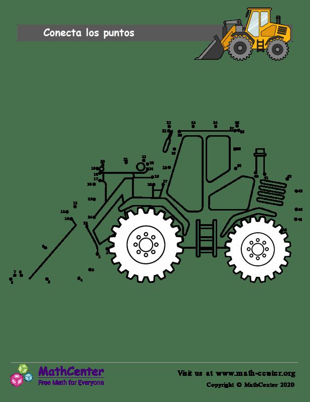 Conecta los puntos Hasta 46 - Tractor
