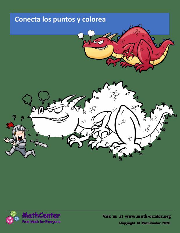 Conecta los puntos Hasta 56 - El Dragón