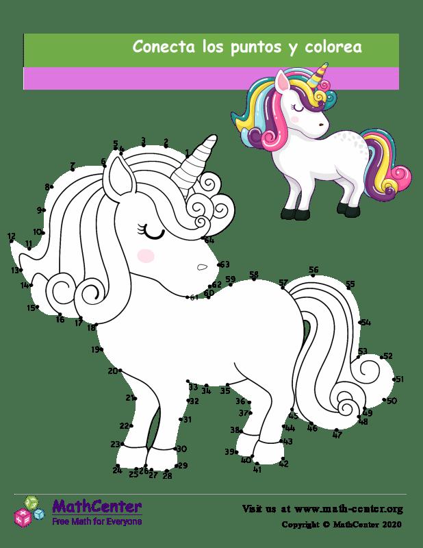 Conecta los puntos Hasta 64 - Unicornio