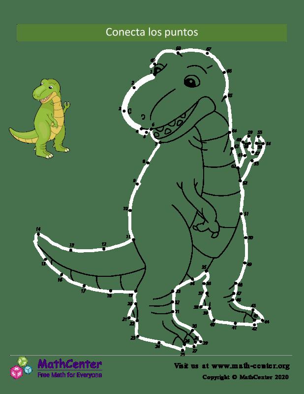 Conecta los puntos Hasta 2 - Dinosaurio N°69