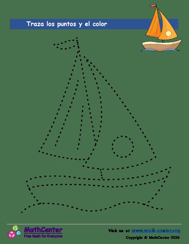 Traza la figura uniendo los puntos - Barco