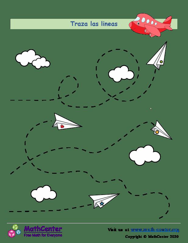 Aviones - Trazado de líneas