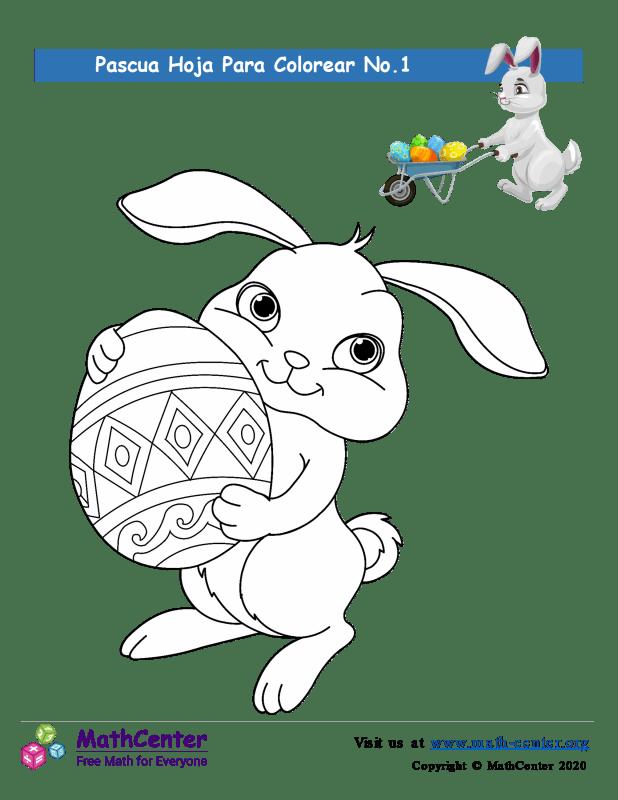 Hoja para colorear - Pascua N°1